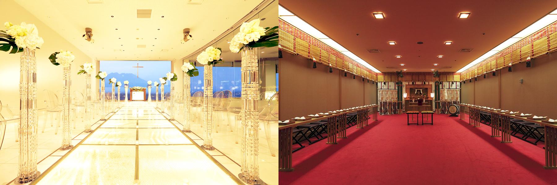 オーシャン神前式|挙式|レンブラントホテル鹿児島【公式】婚礼サイト