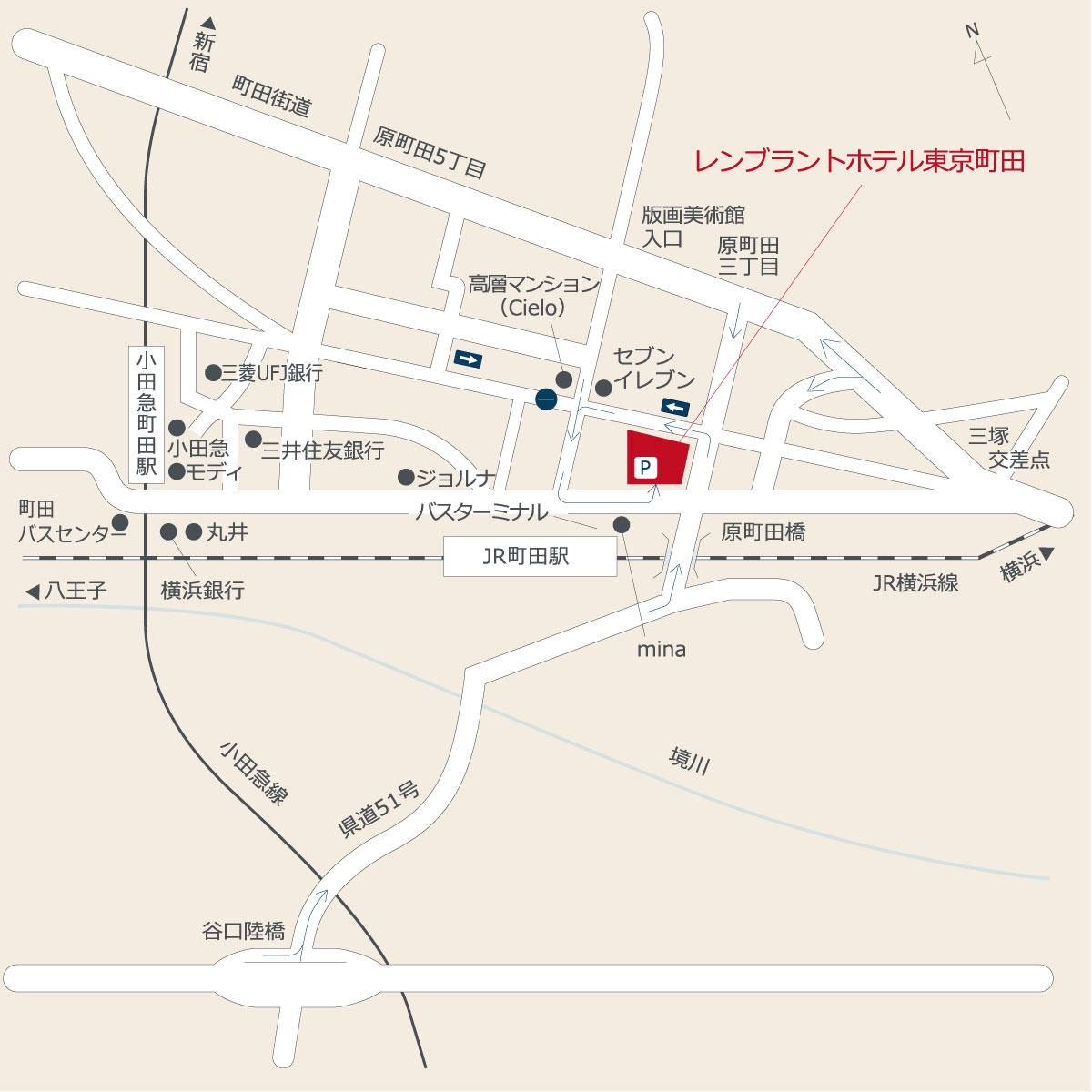 お車でのアクセス|レンブラントホテル東京町田【公式】婚礼サイト