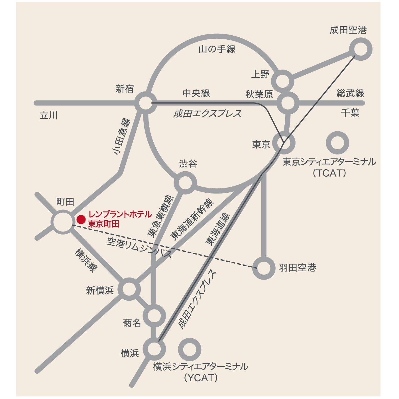 電車でのアクセス|レンブラントホテル東京町田【公式】婚礼サイト